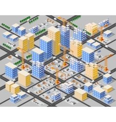 Crane construction industry vector image