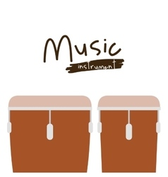 Timbal instrument isolated icon design vector