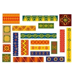 African ethnic ornaments and patterns vector