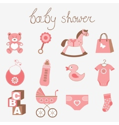Baby shower girl vector image vector image