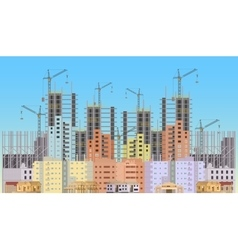 Building city under construction website with vector image vector image