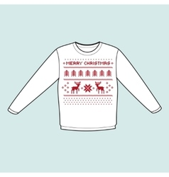 Christmas winter warm sweater flat icon mockup vector