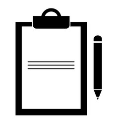clipboard document with pencil vector image vector image
