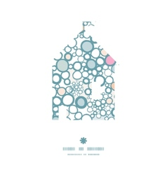 colorful bubbles house silhouette pattern frame vector image vector image