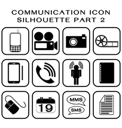 Communication icon part 2 vector image