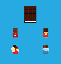 Flat icon bitter set of chocolate dessert shaped vector