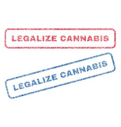 Legalize cannabis textile stamps vector