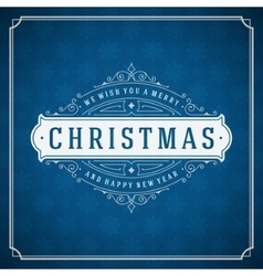 Merry christmas typography decoration greeting vector