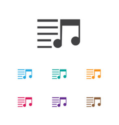 of multimedia symbol on song vector image