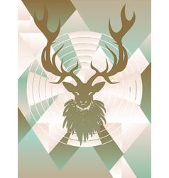 Polygonal background with deer4 vector