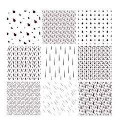 Rain drops pattern set vector