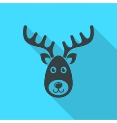 reindeer face christmas icon vector image vector image
