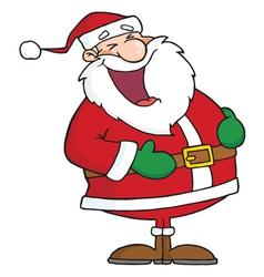 Santa laughing vector