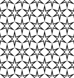 Seamless black and white star pattern vector