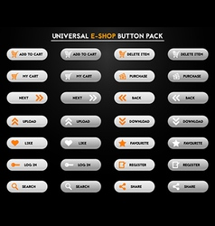 Set of simple grey e-shop buttons vector image vector image
