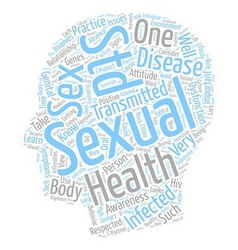Sexual Health Awareness and You text background vector image vector image