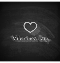 Valentines day lettering emblem on the blackboard vector