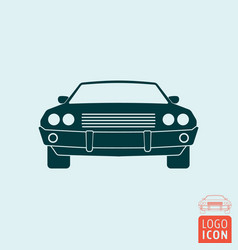 vintage muscle car icon vector image