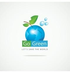 Planet Earth Go Green vector image