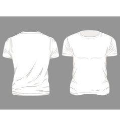 White Male T-shirt Design vector image
