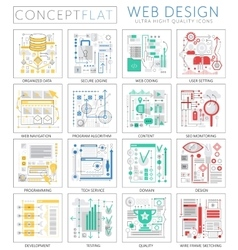 Infographics mini concept web design icons for web vector