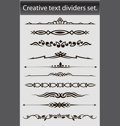 Creative text dividers set vector