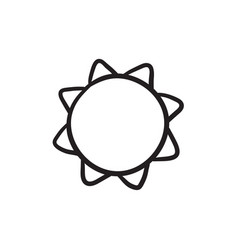 Sun sketch icon vector