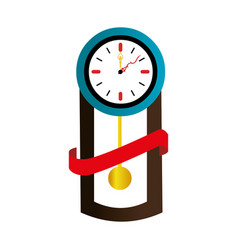 Antique watch time isolated icon vector