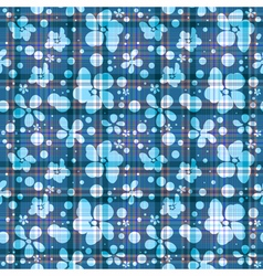 Repeating blue checkered patter vector image