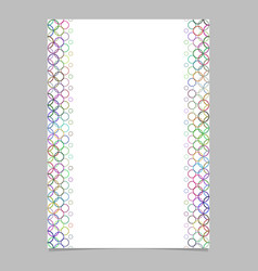 Multicolored circle pattern page template - vector