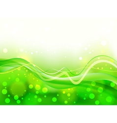Abstract green soft focus background vector image