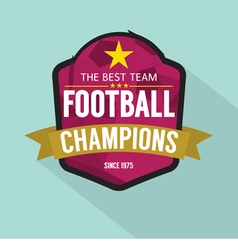 2016 Football Champions Badge vector image
