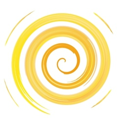 Yellow watercolor spiral vector