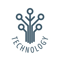 Logo tree chip technology vector