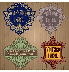 Vintage items - label art nouveau vector