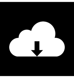 White cloud icon vector