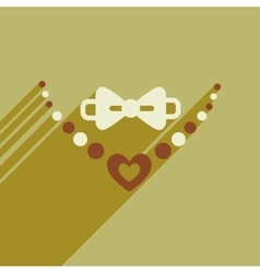Flat web icon with long shadow necklace and tie vector