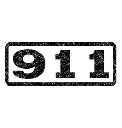 911 watermark stamp vector image vector image