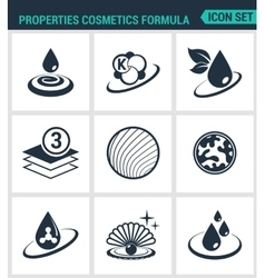 Set of modern icons properties cosmetics vector
