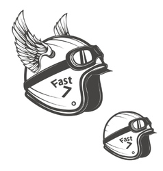 Baker helmet with wings design element for logo vector