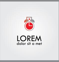 Beauty clock logo vektor vector