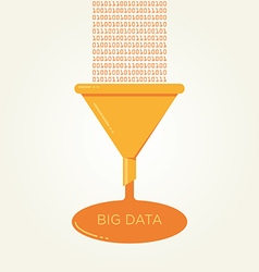 Big Data analysis filter funnel flat vector image vector image