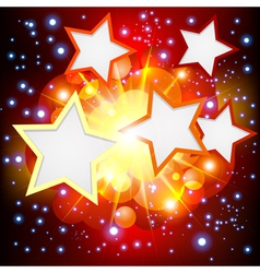 Brightly explosion background with many stars vector
