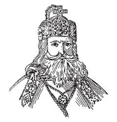 Charlemagne vintage vector