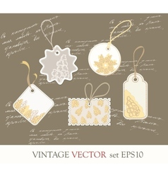 Collection of cute tags vector