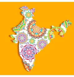Colorful India vector image vector image