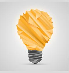 creative idea of origami lamp vector image