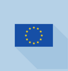 eu flag icon vector image