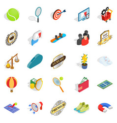 Gratification icons set isometric style vector