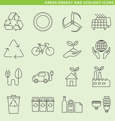 Green energy icons vector